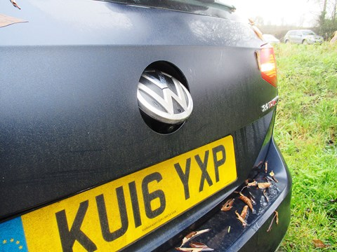 The VW Passat's reversing camera