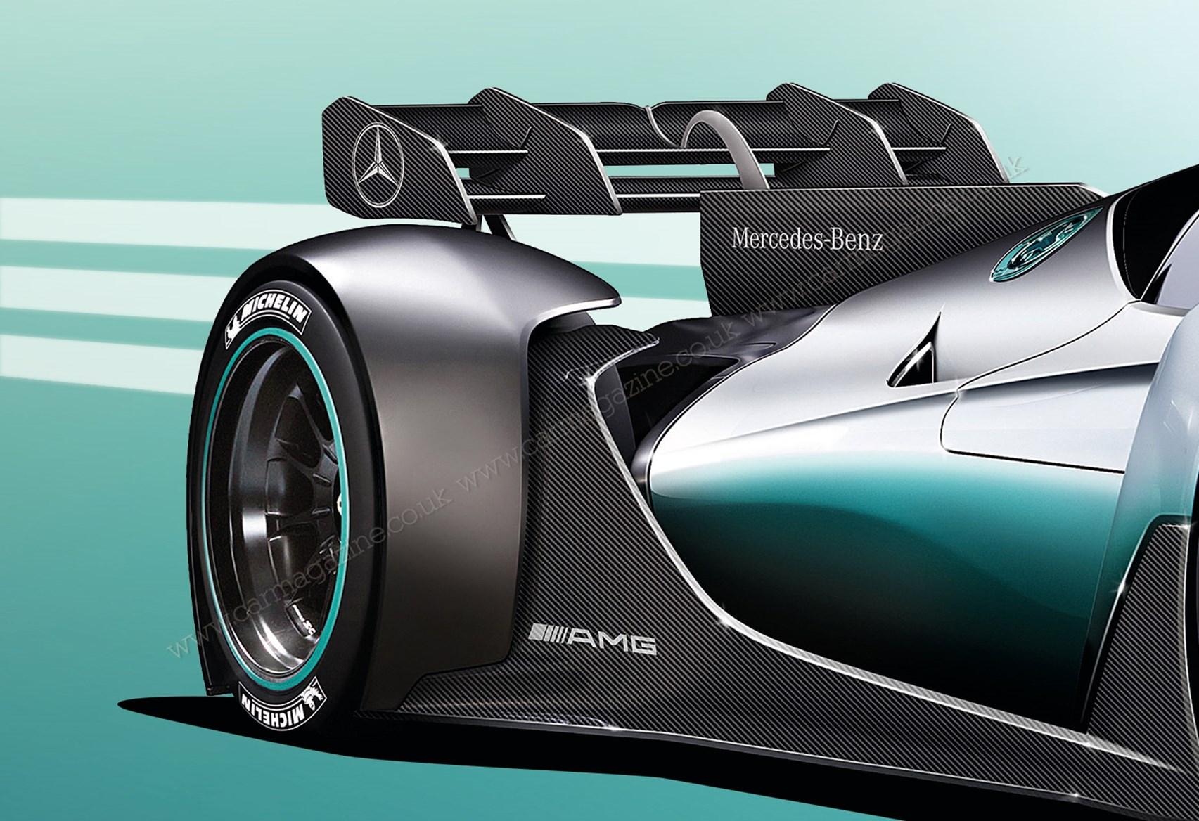 Mercedes amg f1 w08 wallpaper 4