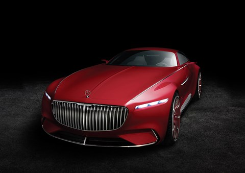 Slim lights and a huge grille: the Maybach 6