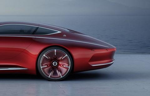Aero-clean, smooth wheels: the Maybach 6