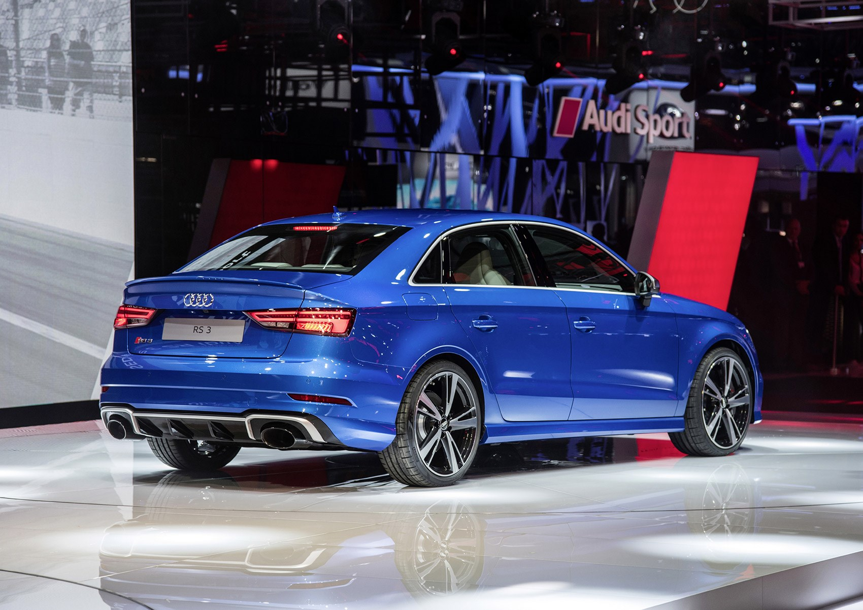 audi 39 s fast four door returns new rs3 saloon unveiled by. Black Bedroom Furniture Sets. Home Design Ideas