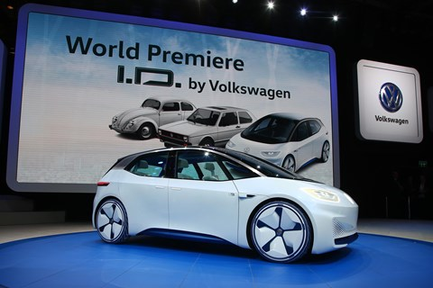 The VW I.D. at the Paris motor show