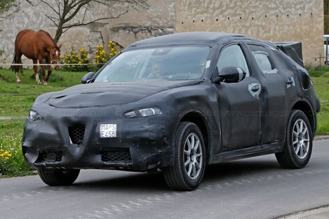 The Alfa Romeo Stelvio caught testing