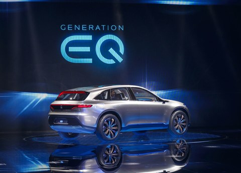 The Mercedes-Benz Generation EQ at the Paris motor show