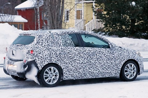 Vauxhall Corsa 2019 spy shot