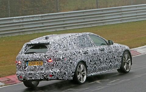 Jaguar XF Sportbrake (2017) at the Nurburgring
