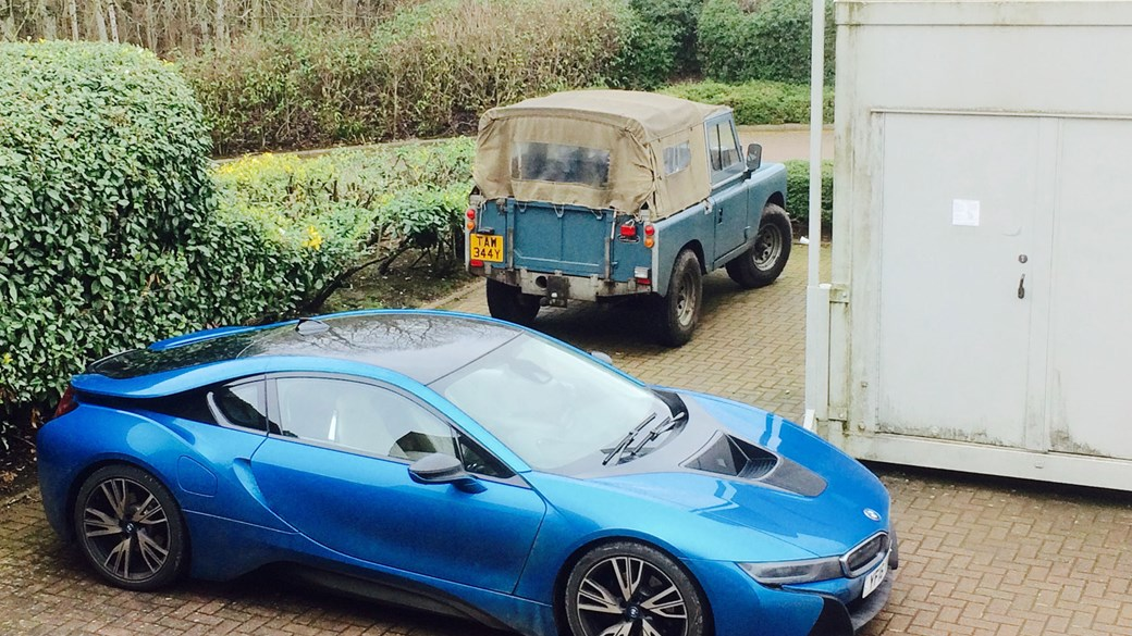 Our Bmw I8 Meets An Old Land Rover