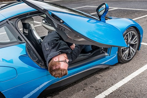 BMW i8: not the easiest car to climb in and out of
