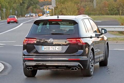 2017 VW Tiguan R spyshots