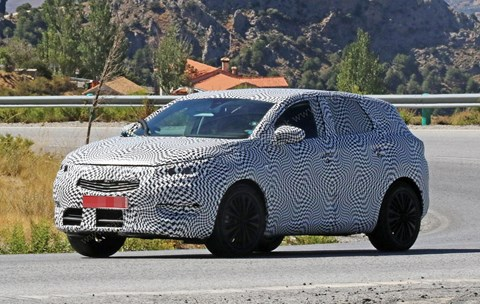 Vauxhall Crossland X: spy photos