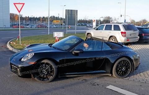 Porsche 992 911 Cabrio spy shot