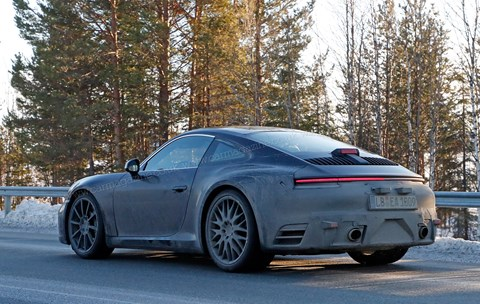 First sight of what's thought to be the 2019 911's production bodywork