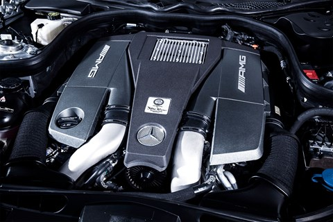 The 5.5-litre V8 turbo in the Mercedes E63 Estate