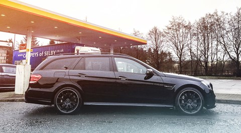 Video wiz Al Clark's 64-plate E63 is proving to be a surprisingly sane choice for business and pleasure