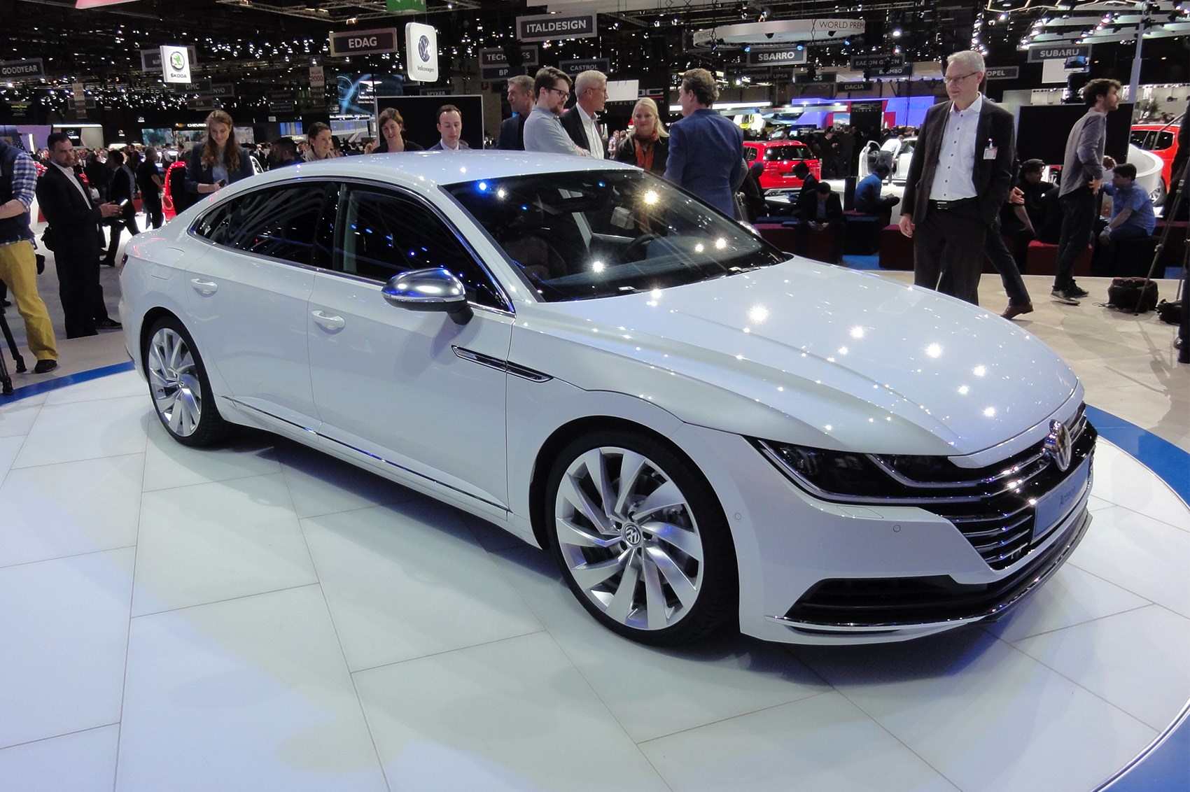 Vw Arteon White At Geneva 2017