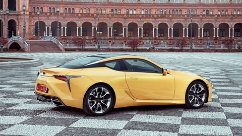 Lexus LC coupe: shares same platform as new LS
