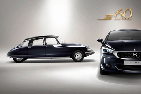 The brand's halo car, the original DS (left)