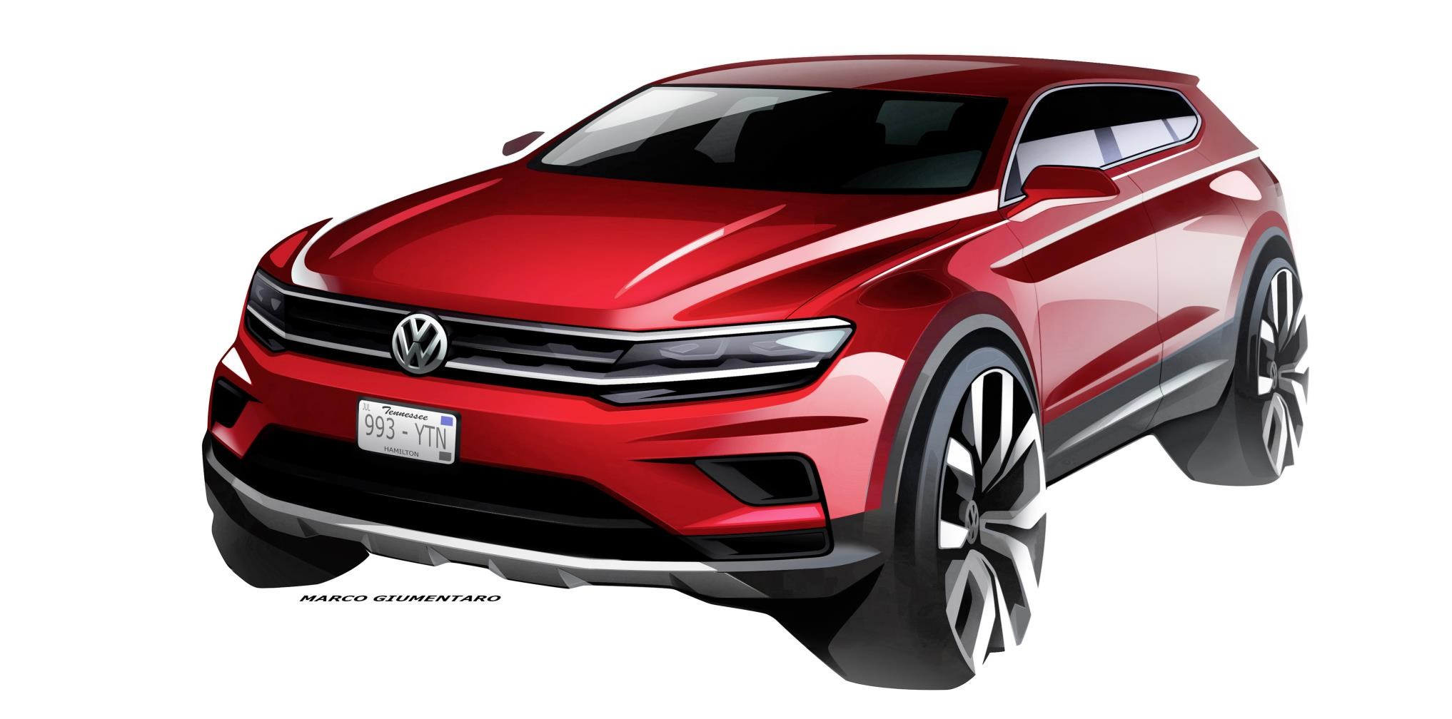 Vw Tiguan Alle Official Design Sketches