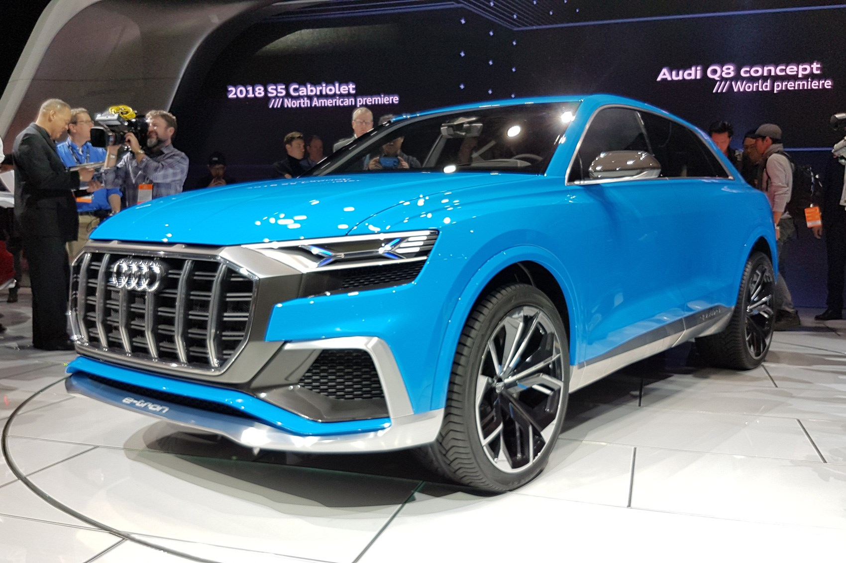 new audi q8 concept at the detroit motor show by car magazine. Black Bedroom Furniture Sets. Home Design Ideas