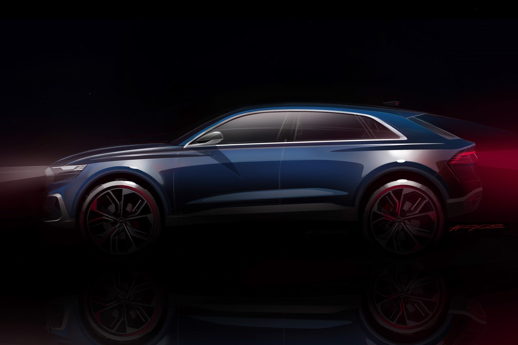 New Audi Q8 luxury SUV revealed in official design sketches