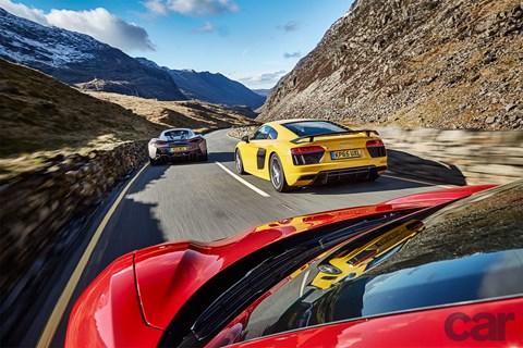 Audi R8 vs McLaren 570S vs Ferrari 488 GTB