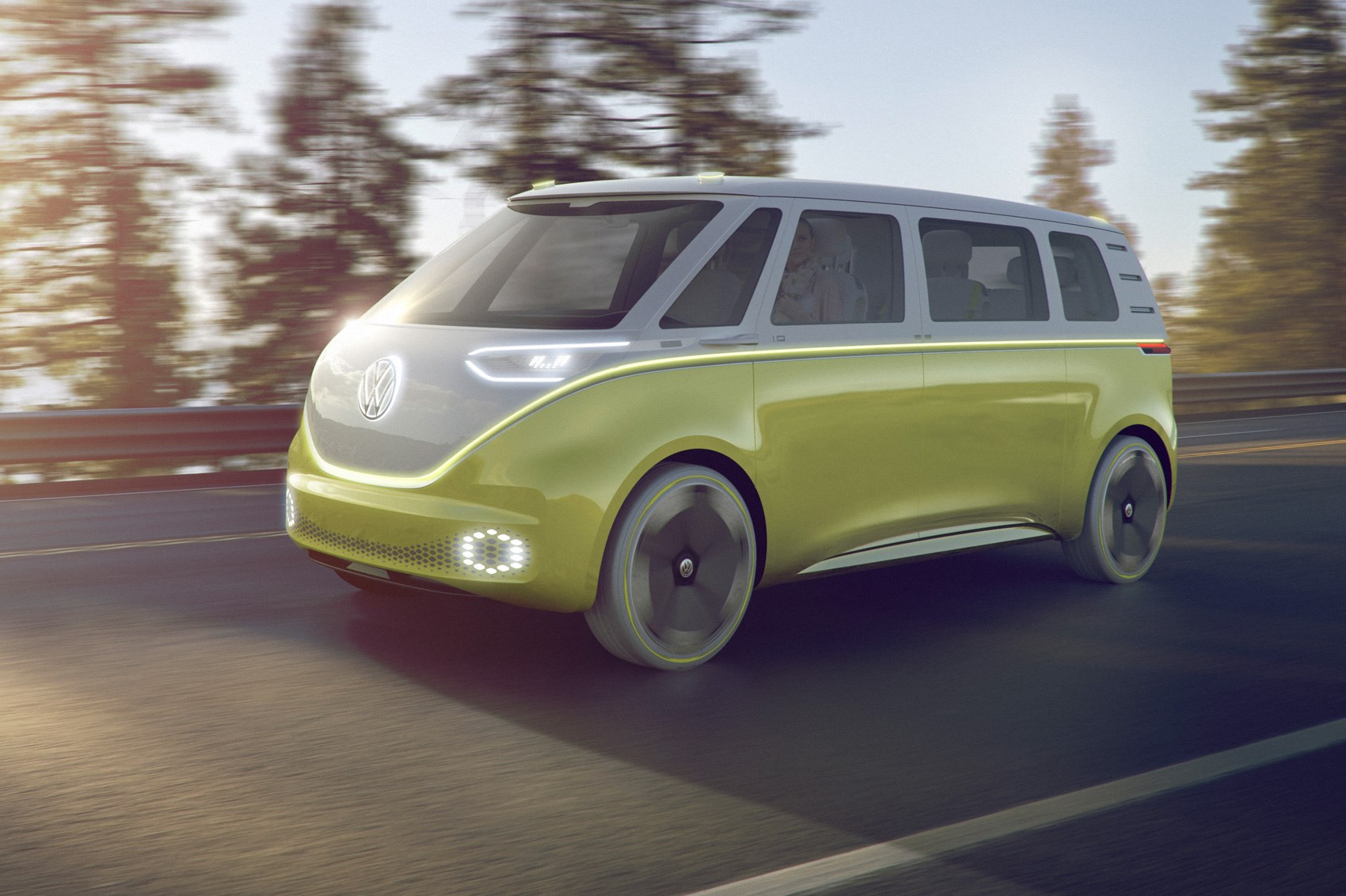 Volkswagen I D Buzz Concept Vw S Electric Push Continues At Detroit 2017