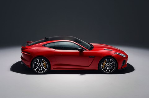 A familiar silhouette: the Jag F-type