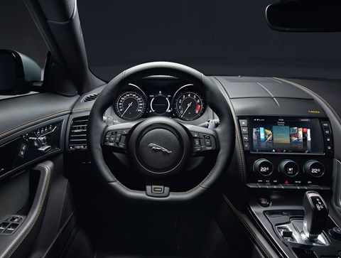 Inside new 2017 Jaguar F-type