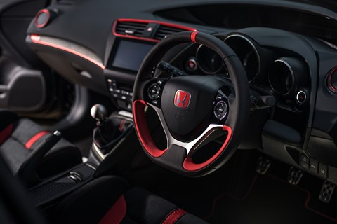 Honda Civic Type R Black Edition interior