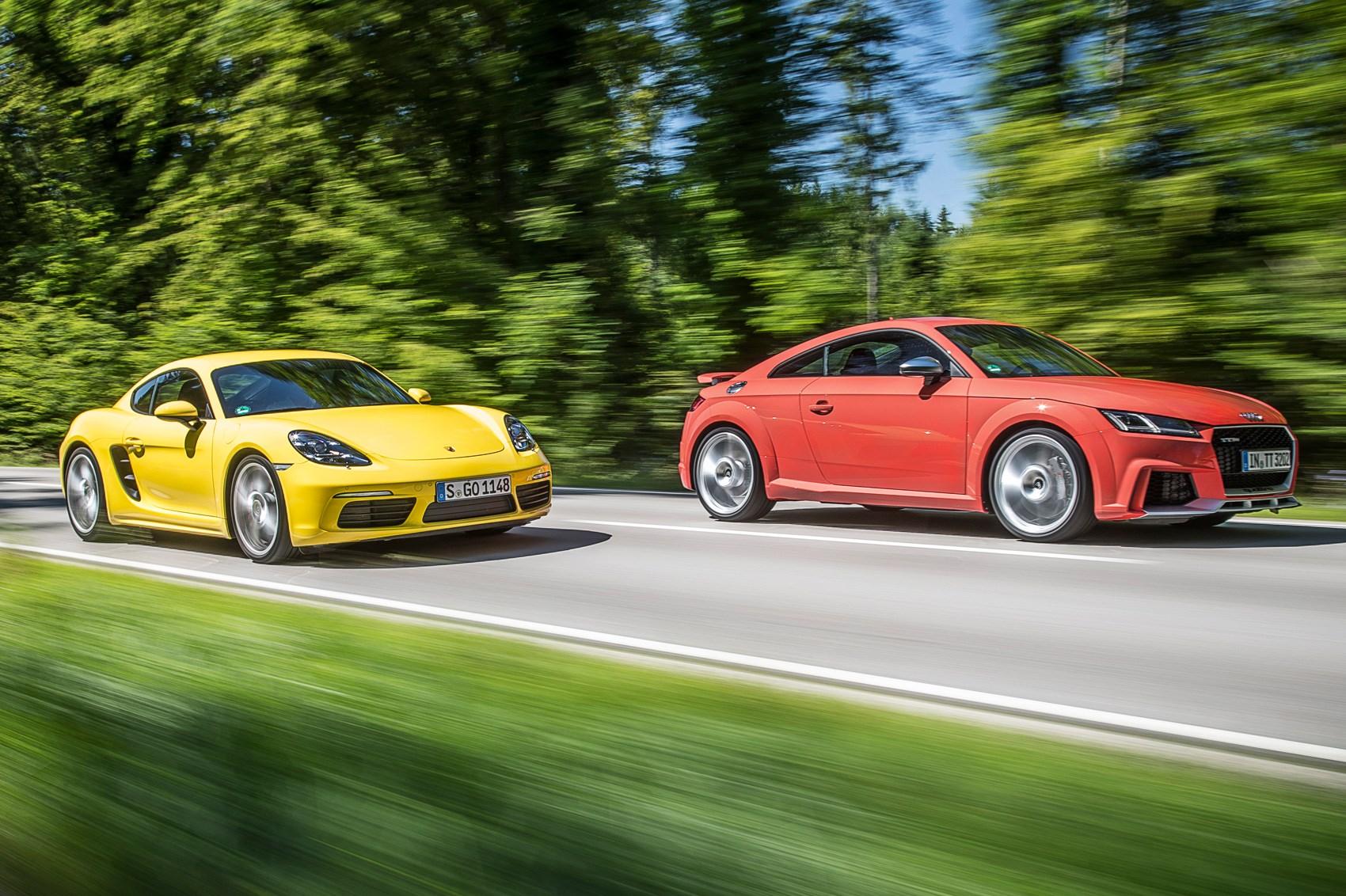 Audi TT RS vs Porsche 718 Cayman S ...