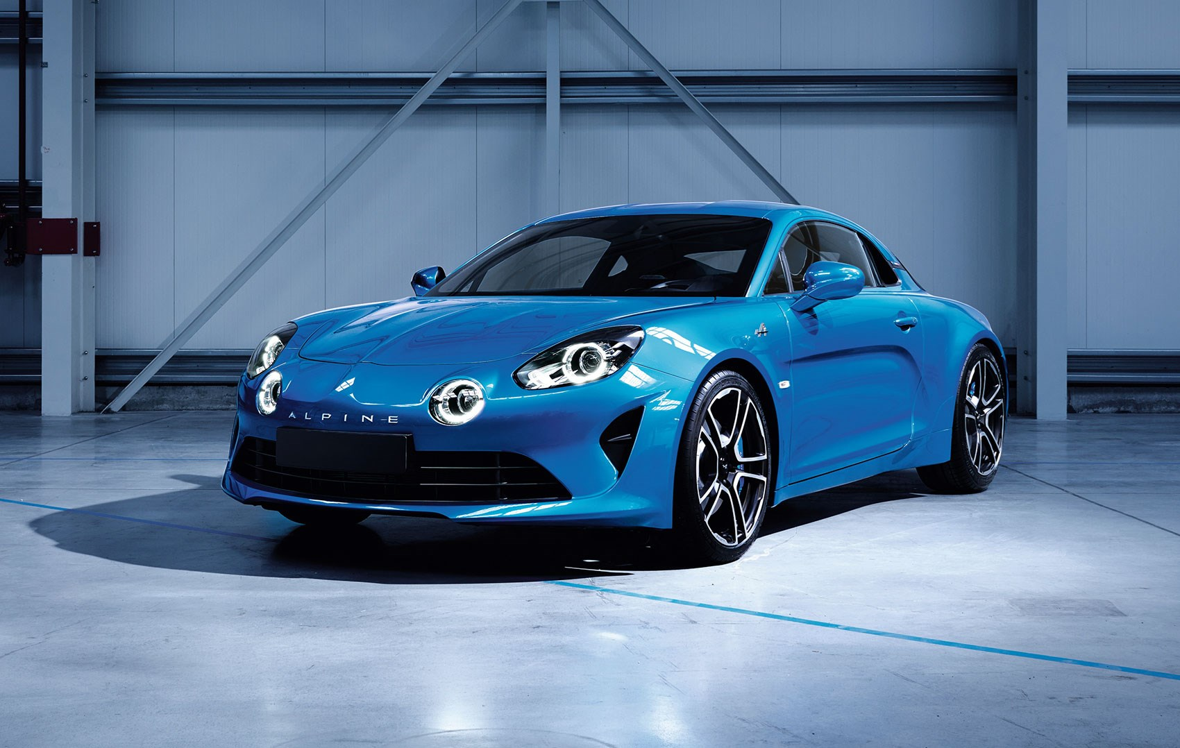 A Gorgeous Side Profile The Alpine A110 First Look At Aluminium Chis Of New Sports Car