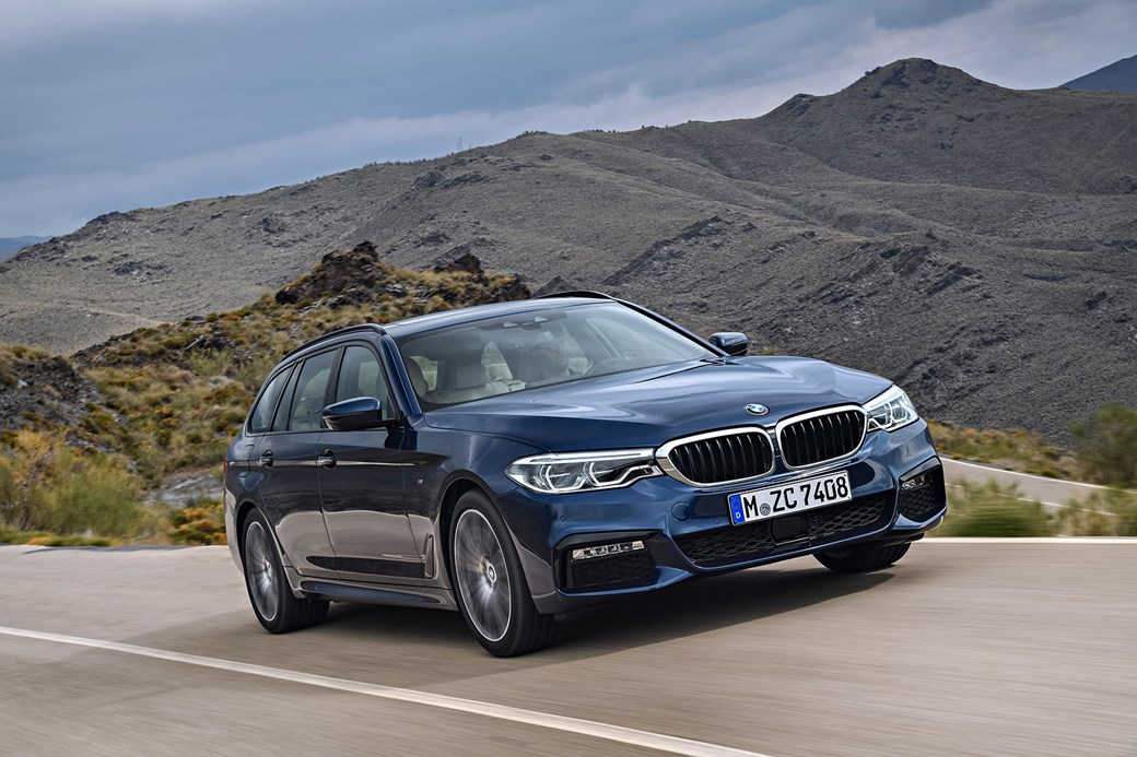 New Bmw 5 Series Touring On The Road