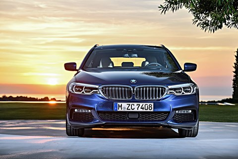 BMW 5-series Touring: a bold face