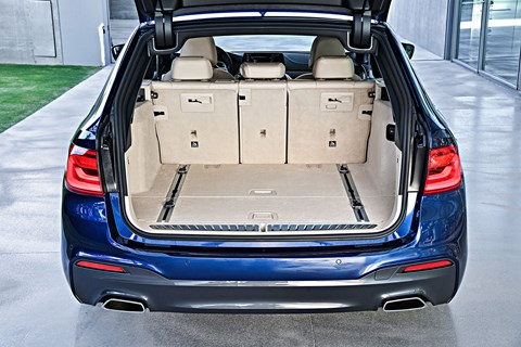 The business end: BMW 5-series boot