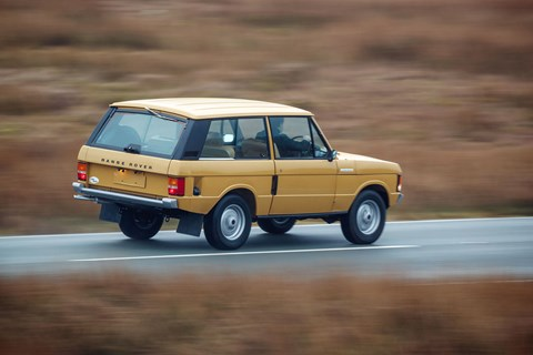 Bahama Gold! Wonderful retro paint job on Range Rover Classic