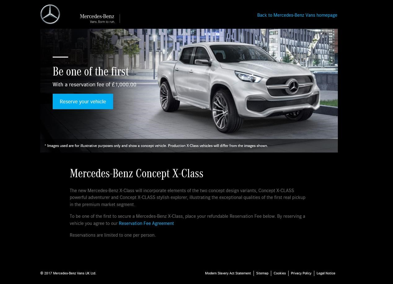 822dec5bdb A pick-up in demand  Merc X-class on sale before it s even been ...