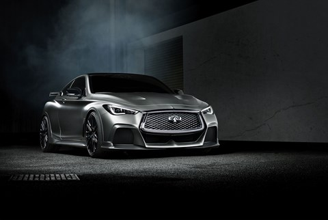 The Infiniti Q60 Project Black S: stealthy!