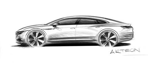 VW Arteon: official sketch