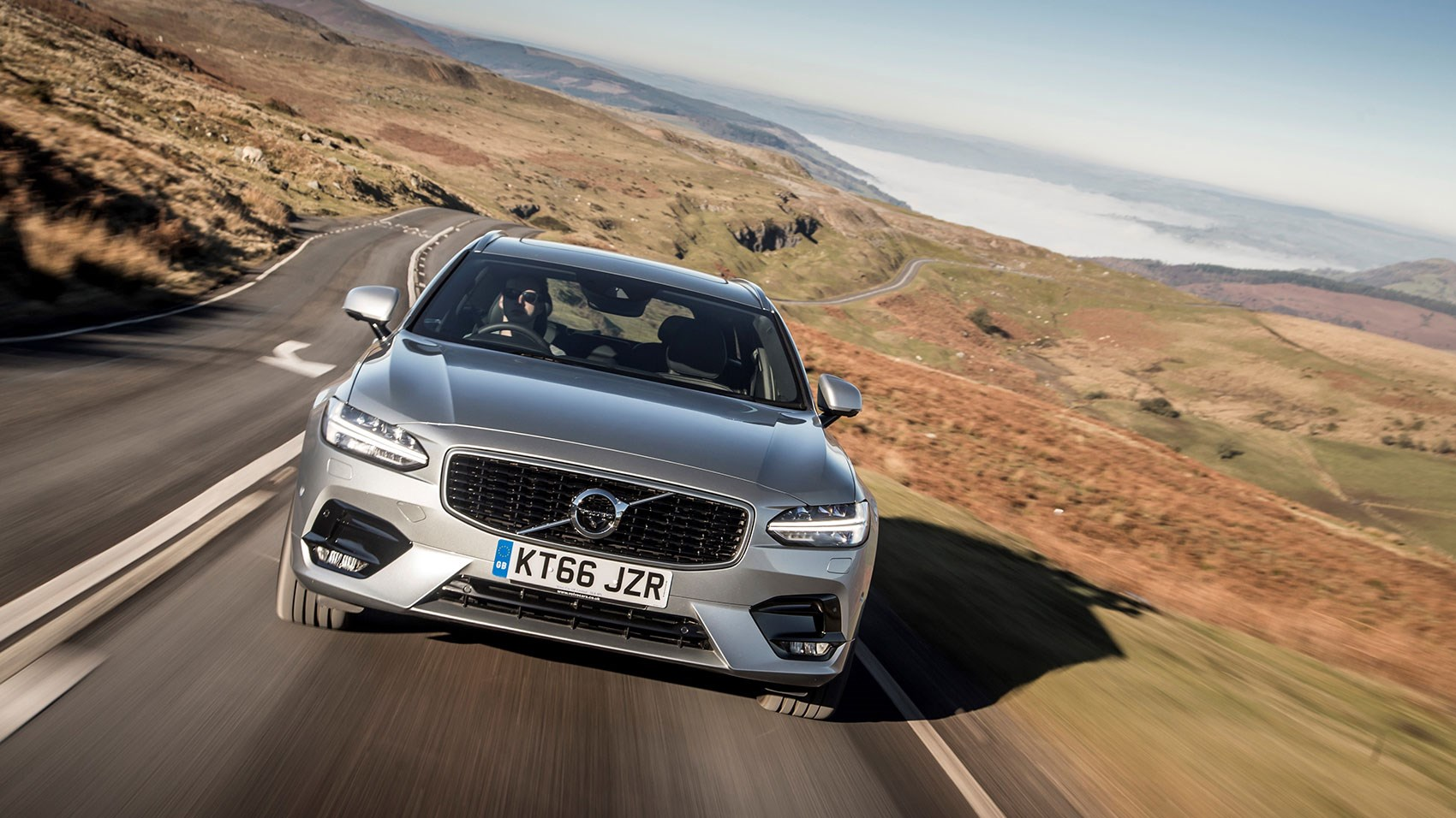 Black grille and accoutrements distinguish Volvo V90 R-Design