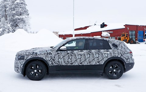The Mercedes-Benz EQ C on winter test in our spy photos