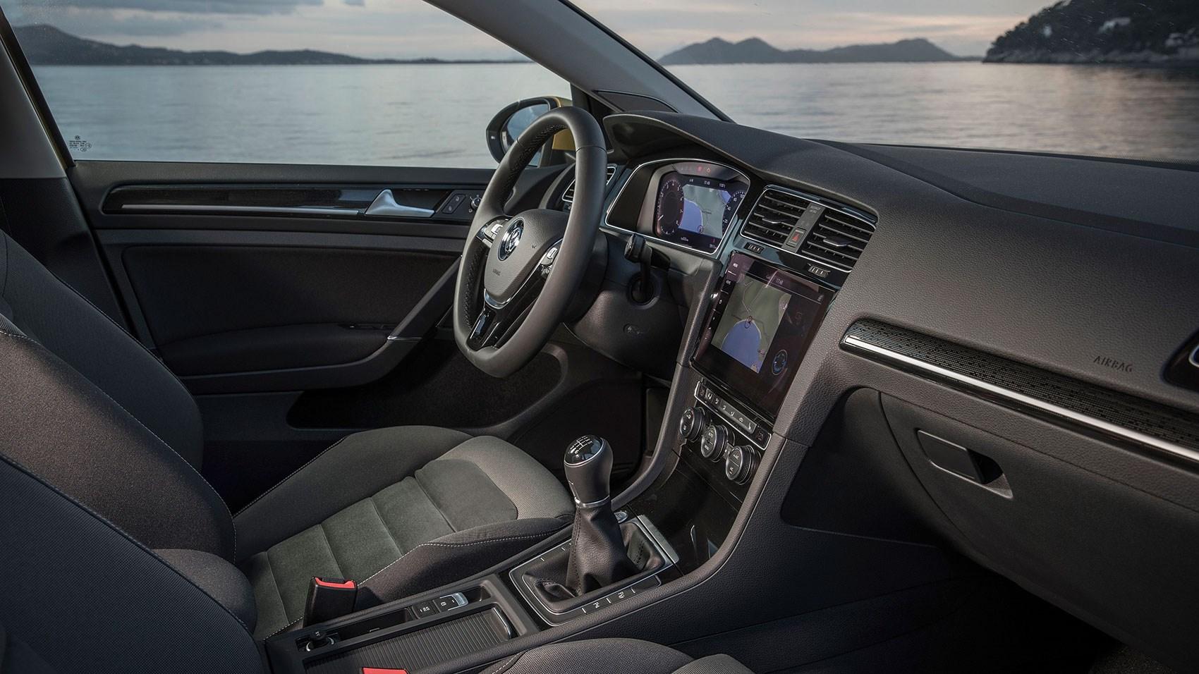 Cabin of new 2017 VW Golf