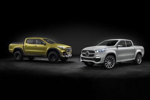The Mercedes-Benz X-class concept car twins