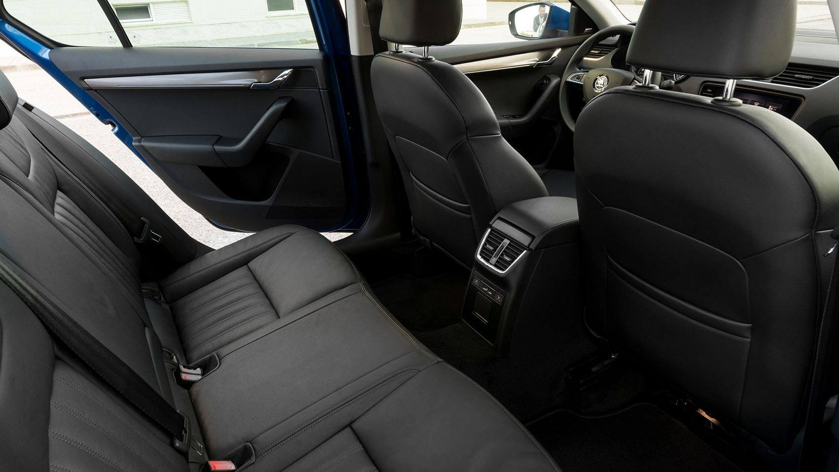 Rear seats of Skoda Octavia