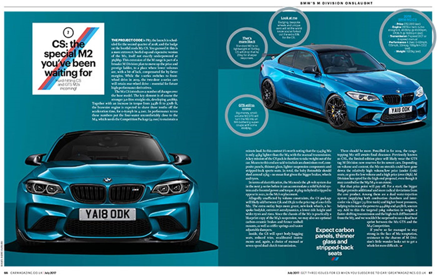 Bmw M2 Cs For 2017 Could This Be Bmw S Best Driver S Car Car Magazine
