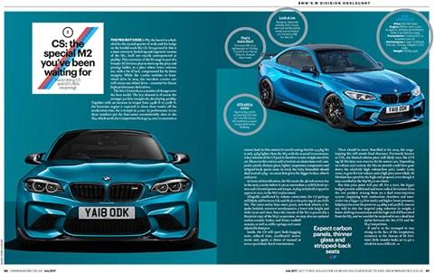 BMW M2 CS: CAR dergisinin Temmuz 2017 sayısında tam olarak ortaya çıktı