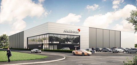 An artist's impression of the new McLaren Composites Technology Centre