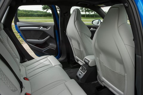 Audi RS3 Sportback 2017 rear seats