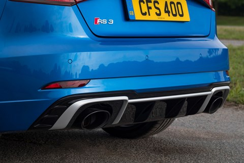 Audi RS3 Sportback 2017 exhaust