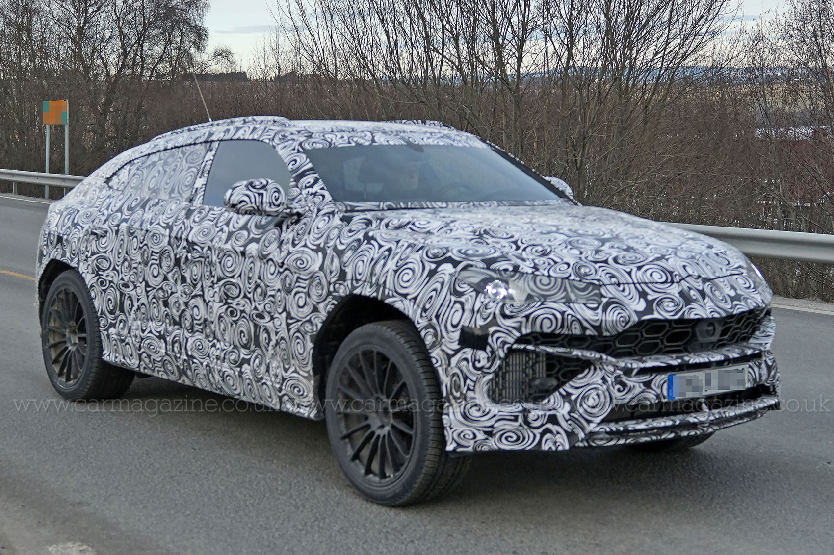 New Lamborghini Urus SUV spotted being thrashed around the ...