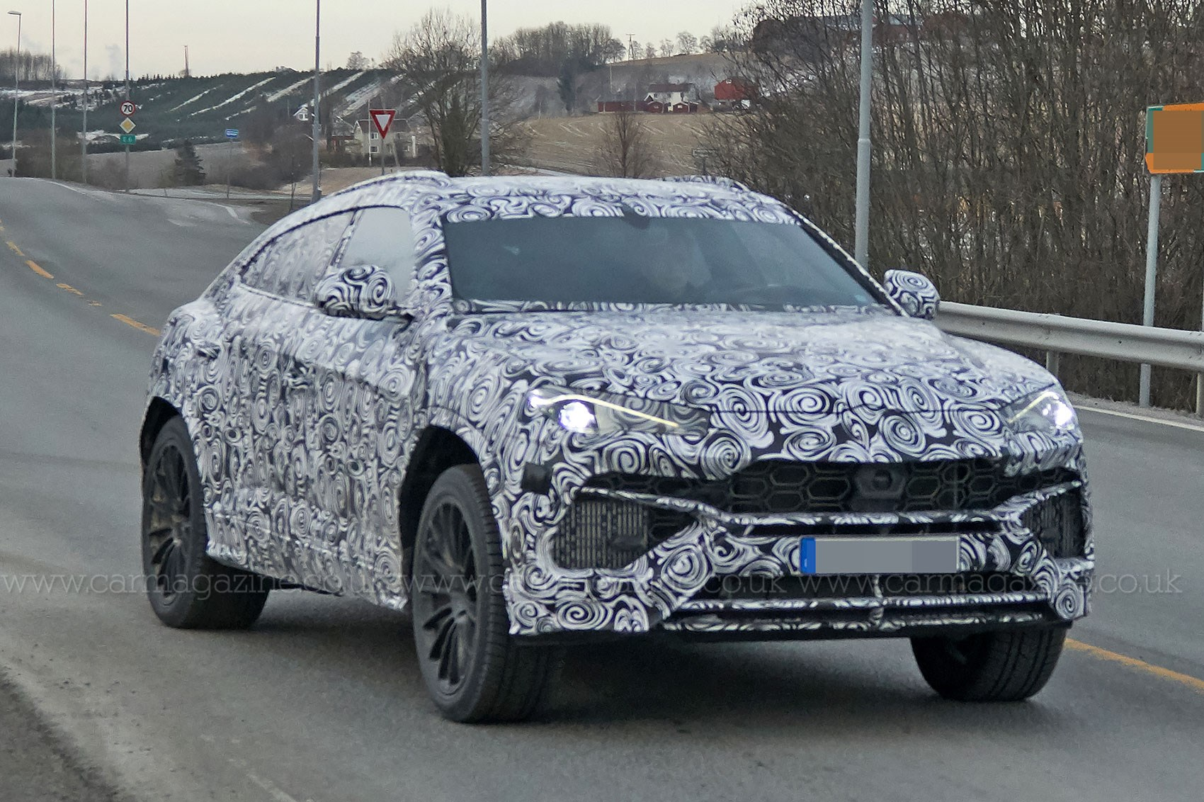 New Lamborghini Urus Suv Spotted Being Thrashed Around The